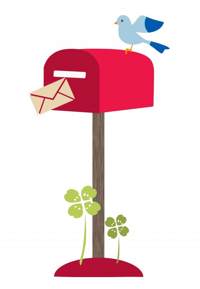 鳥の郵便ポスト 無料イラスト素材素材ラボ