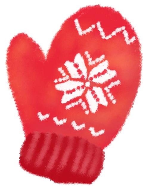赤いミトン 無料イラスト素材素材ラボ