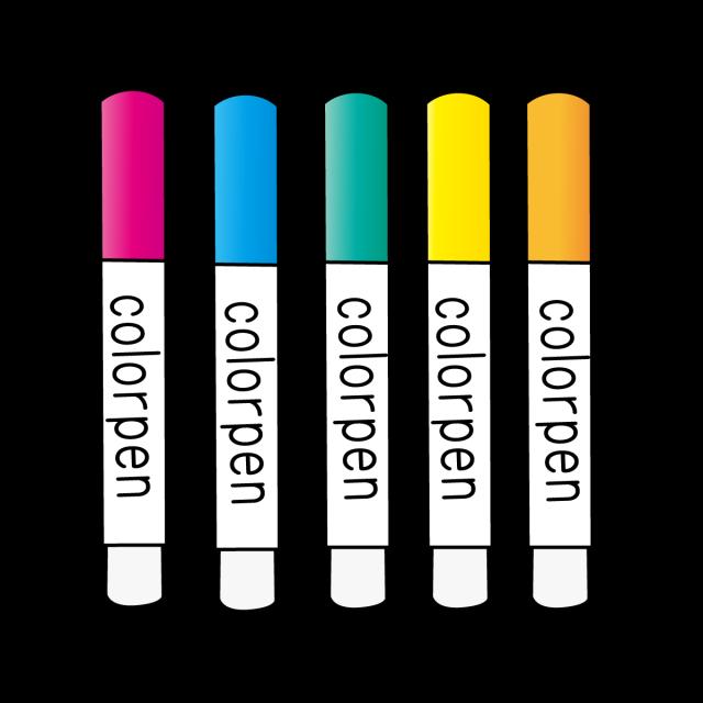 文房具イラスト 蛍光カラーペン 無料イラスト素材素材ラボ