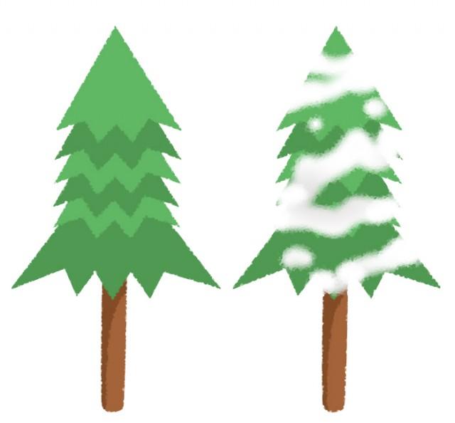 2種類のもみの木 無料イラスト素材素材ラボ