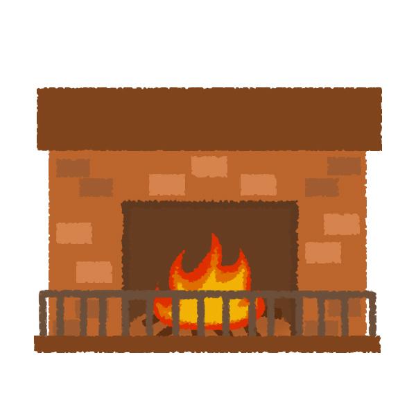 暖かな暖炉