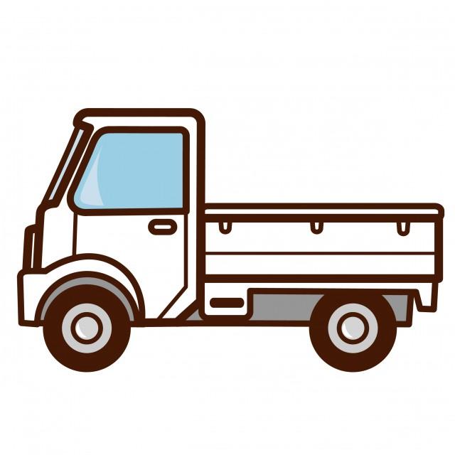 無料イラスト素材:軽トラック