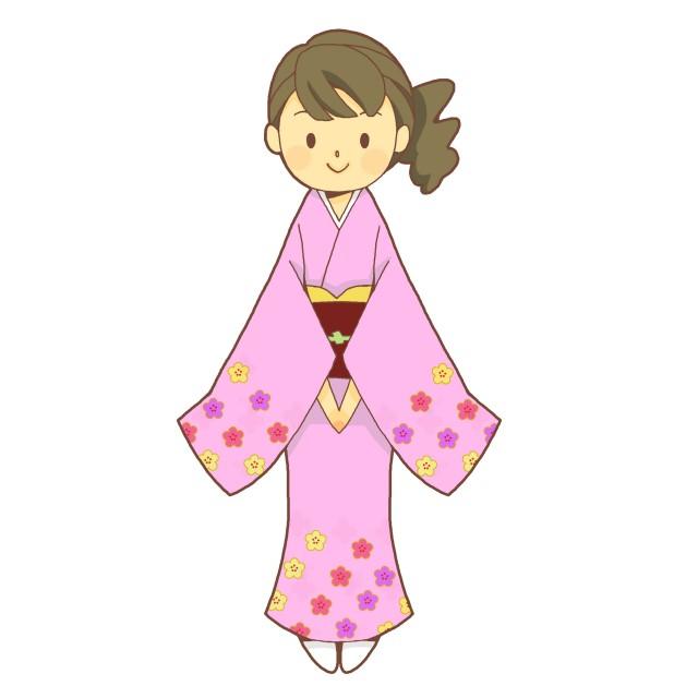 着物女性 無料イラスト素材素材ラボ
