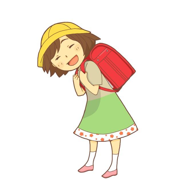 ランドセルを背負う女の子 無料イラスト素材素材ラボ