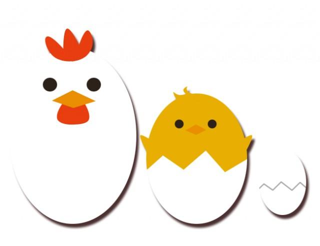 鶏とひよこと卵 無料イラスト素材素材ラボ