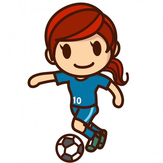 無料イラスト素材:サッカー