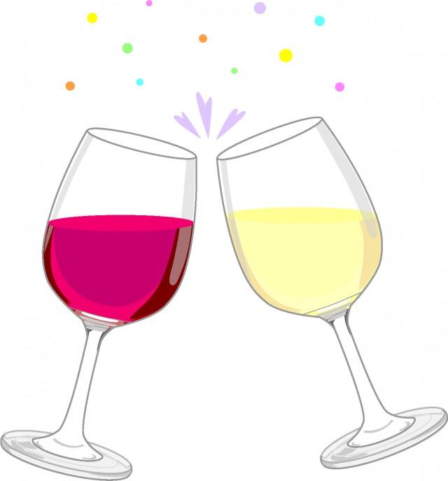 ワインで乾杯 無料イラスト素材素材ラボ