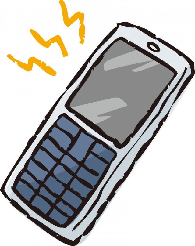 携帯電話3 無料イラスト素材素材ラボ