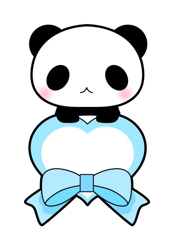 パンダと青いハー…
