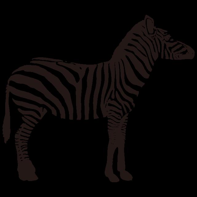 シルエット素材 動物シリーズ シマウマ 無料イラスト素材素材ラボ
