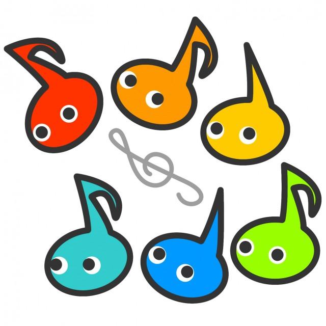 音符おたまじゃくしイラストアイコンセット 無料イラスト素材素材ラボ