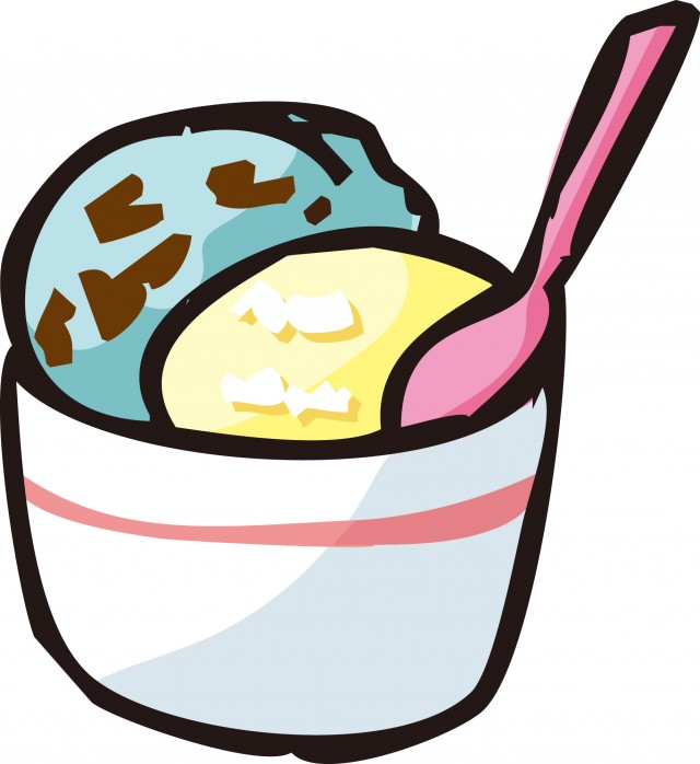 無料イラスト素材:カップアイス