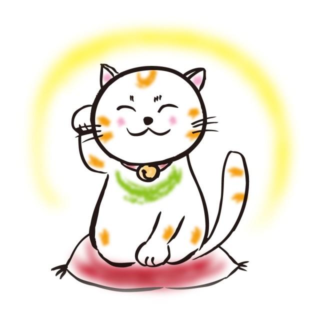 【ワンポイントイラスト】 絵手紙・手書き風 猫