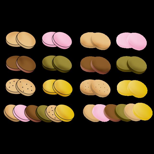 お菓子アイコンセット 無料イラスト素材素材ラボ