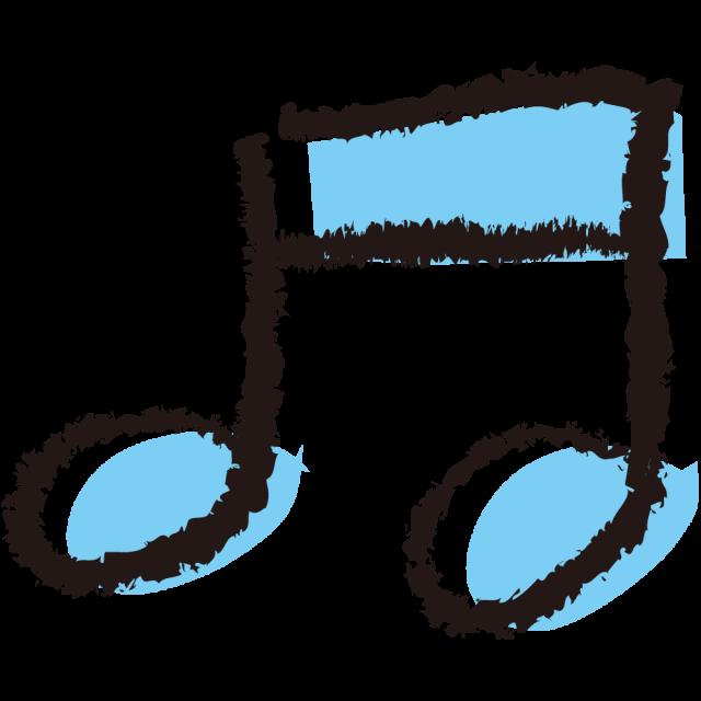パステル手描き風音符 無料イラスト素材素材ラボ
