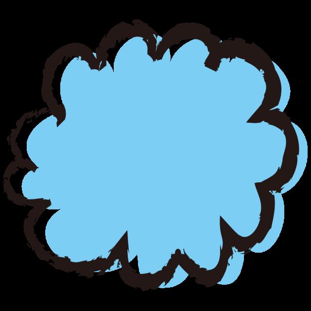パステル手描き風モクモク雲 無料イラスト素材素材ラボ