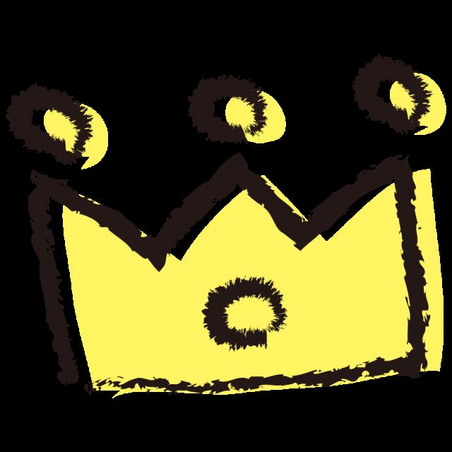 パステル手描き風王冠クラウンキング 無料イラスト素材素材ラボ