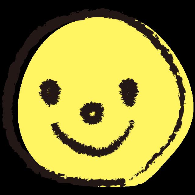 パステル手描き風笑顔スマイル 無料イラスト素材素材ラボ