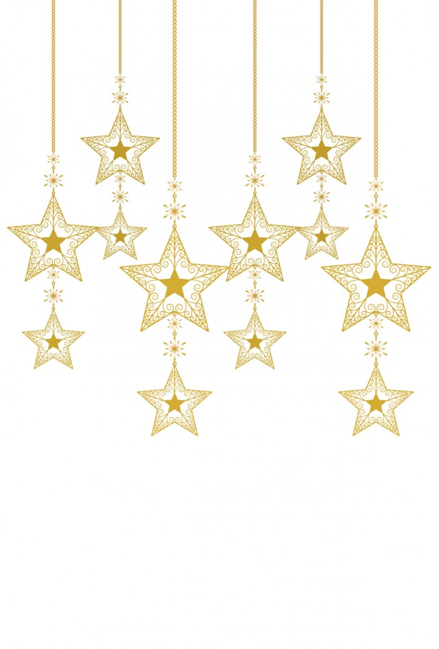【クリスマス素材】星のキラキラオーナメント2