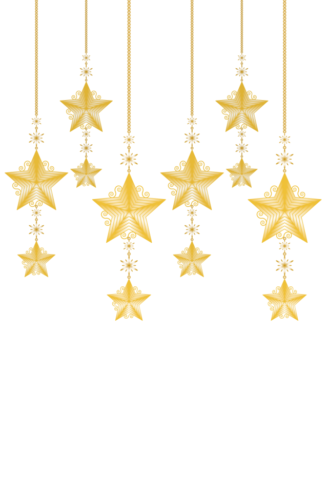 【クリスマス素材】星のキラキラオーナメント3