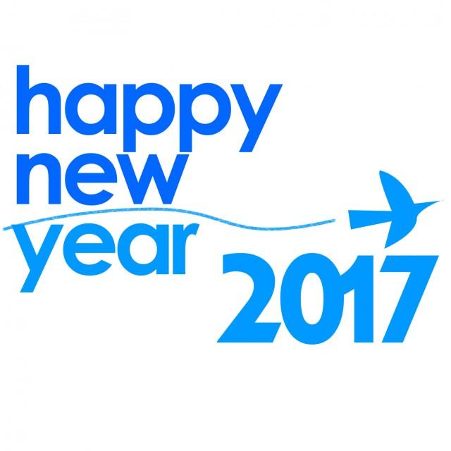 青い鳥年賀状用素材2017 無料イラスト素材素材ラボ