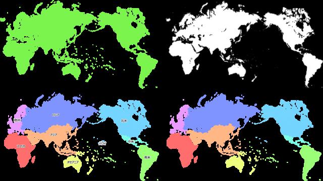 世界地図セットcsaipng 無料イラスト素材素材ラボ