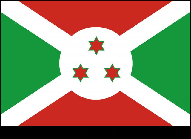 無料イラスト素材:ブルンジ共和国の国旗(CSai・png)