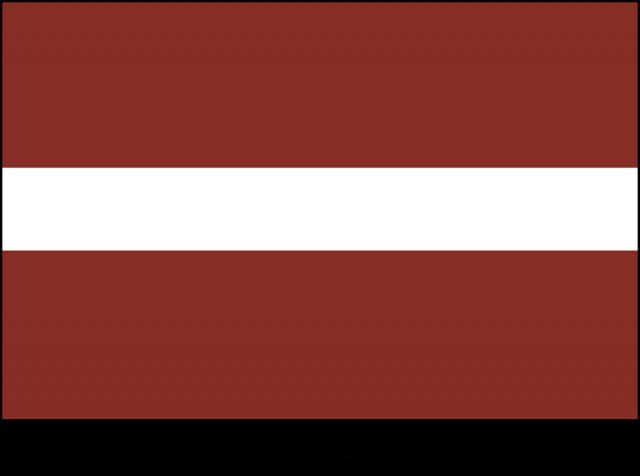 ラトビア共和国の国旗(CSai・pn...