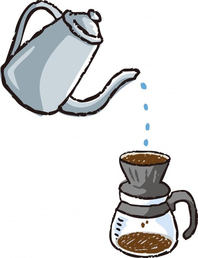 コーヒーをいれる 無料イラスト素材素材ラボ