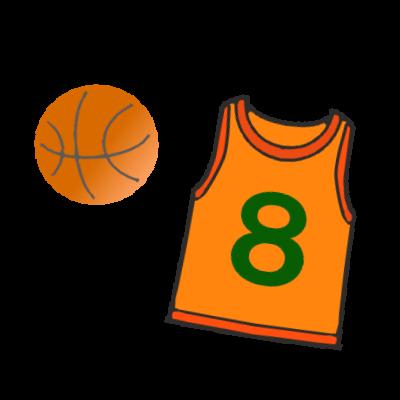 バスケットボールとユニホーム 無料イラスト素材 素材ラボ
