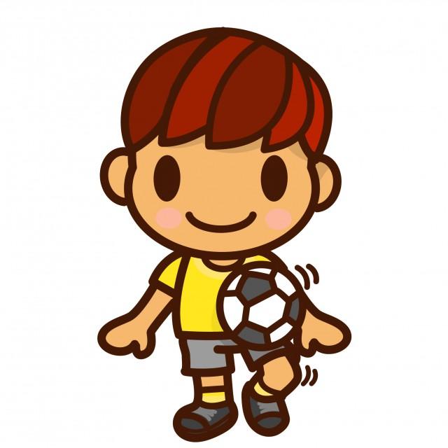 サッカー少年 無料イラスト素材素材ラボ