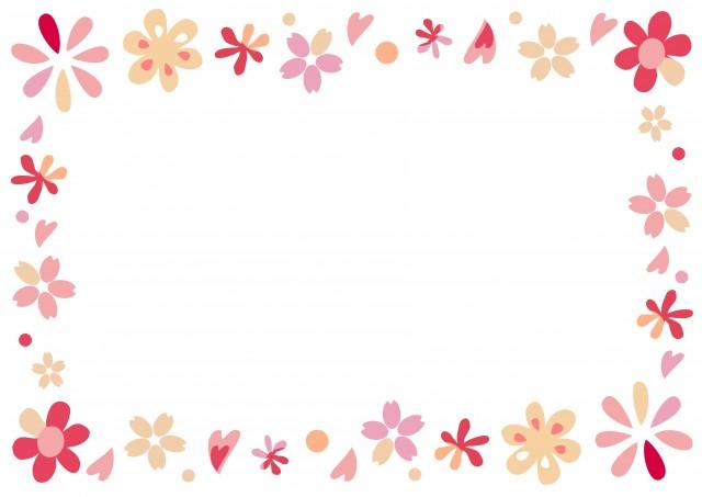 春のお花ピンクのフレーム 無料イラスト素材素材ラボ