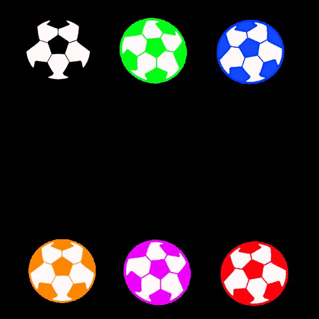 カラフルサッカーボールフレーム 無料イラスト素材素材ラボ