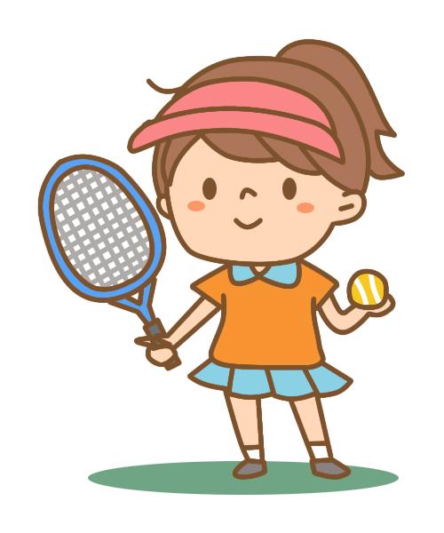 テニスと女の子
