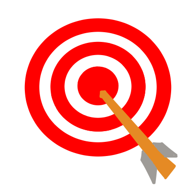 弓道の的と矢   無料イラスト素材 素材ラボ