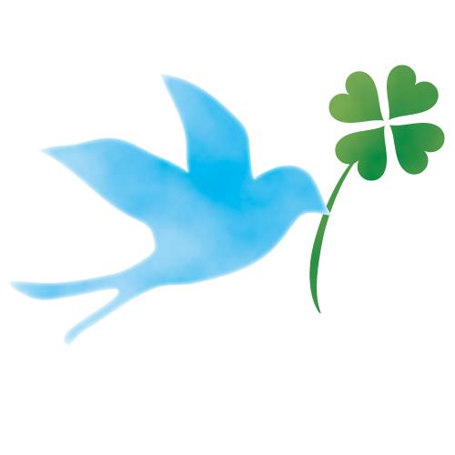 青い鳥とクローバ…