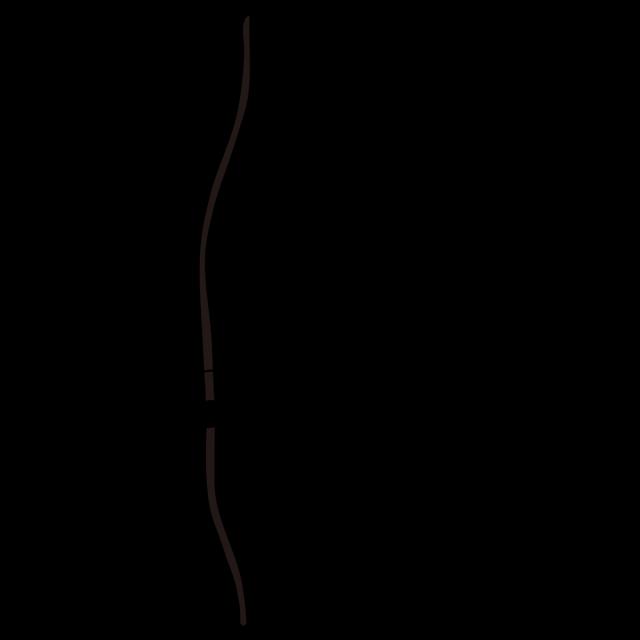 スポーツ 弓道 道具イラスト弓矢シルエット 無料イラスト素材素材ラボ