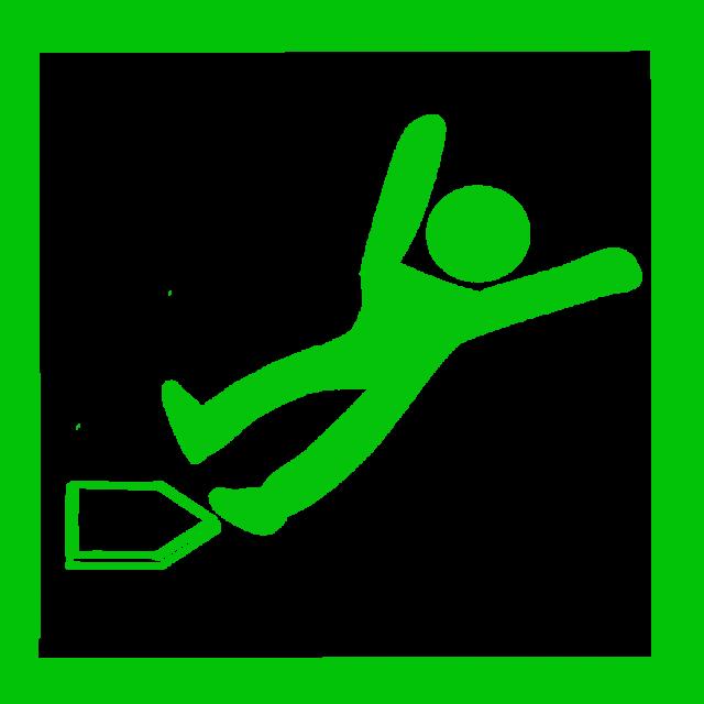 野球滑り込みセーフアイコン 無料イラスト素材素材ラボ