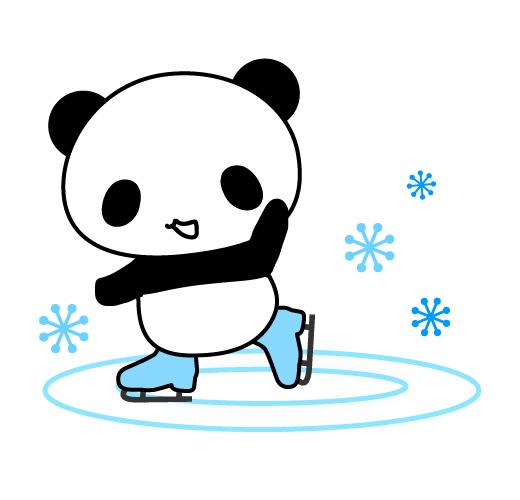 パンダのフィギアスケート風イラスト 無料イラスト素材素材ラボ