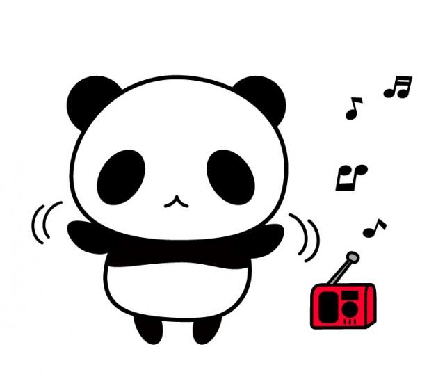 ラジオ体操をしているパンダちゃんイラスト素材 無料イラスト素材
