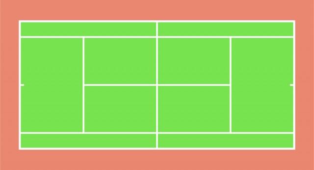 テニスコートcsaijpg 無料イラスト素材素材ラボ