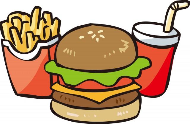 ハンバーガーセット 無料イラスト素材素材ラボ