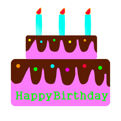 誕生日ケーキ 無料イラスト素材素材ラボ