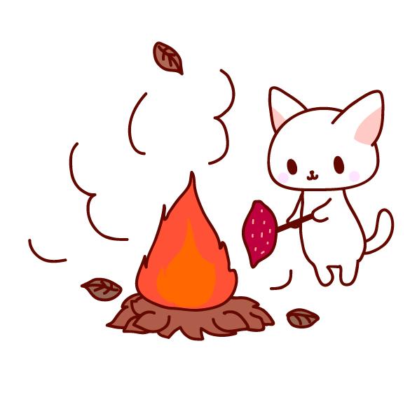 焼き芋猫ちゃんイラスト素材 無料イラスト素材素材ラボ