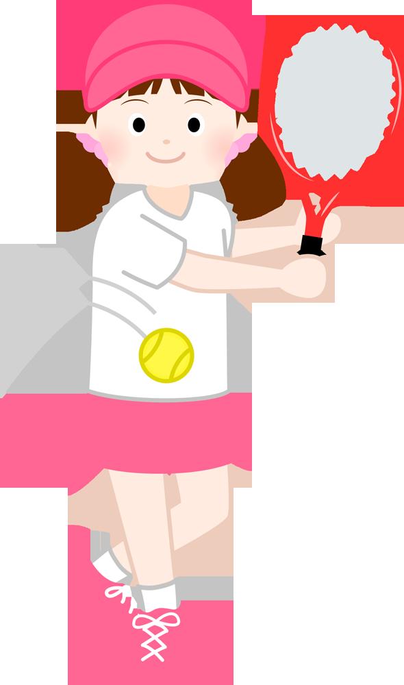 テニスする女の子…