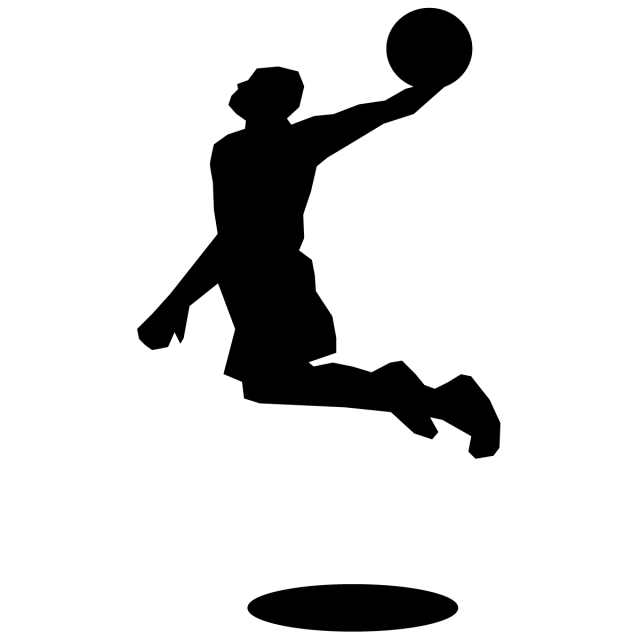 スポーツ バスケット シルエットとイラスト シュート 無料イラスト