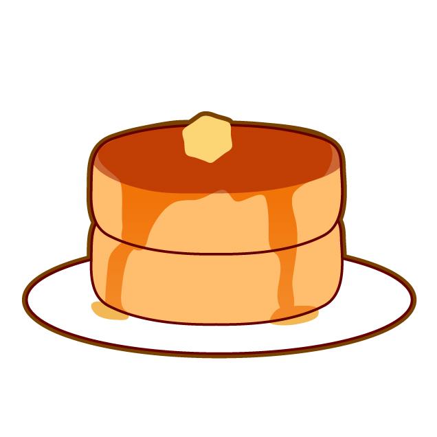 パンケーキ(ホットケーキ)のイラスト素材