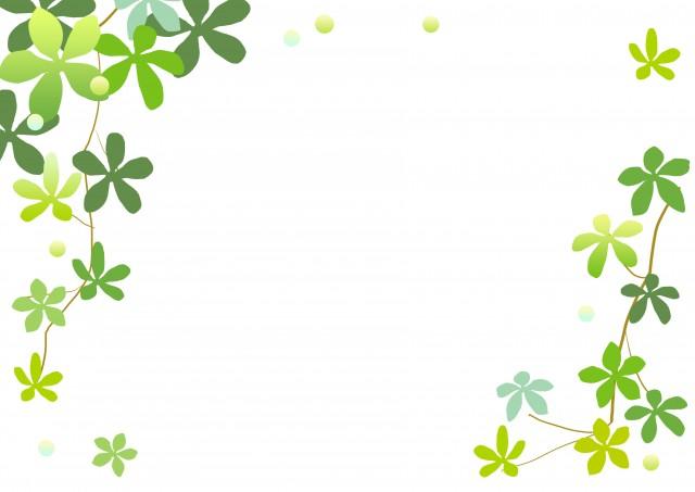 観葉植物のフレーム 無料イラスト素材素材ラボ