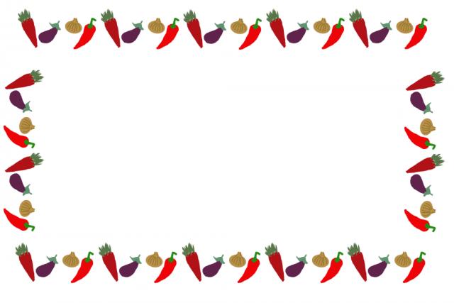 野菜フレーム 無料イラスト素材素材ラボ