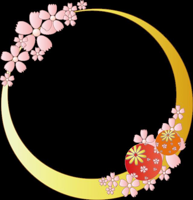 和風春フレーム桜雛祭り 無料イラスト素材素材ラボ